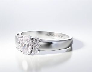 PAVE SOLITAIRE RING ENG055